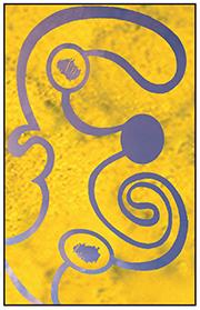 Violet et jaune